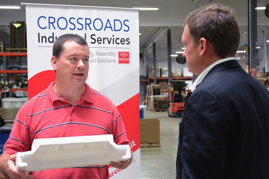 Senator Joe Donnelly's Office Visits Crossroads Industrial Services
