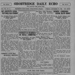 scanned image of Shortridge Daily Echo September 26 1939 school paper